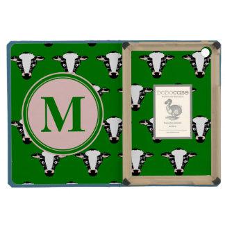 Monogram Cute Cow Face Pattern iPad Mini Cover