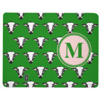 Monogram Cute Cow Face Pattern Journal