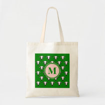 Monogram Cute Cow Face Pattern Tote Bag