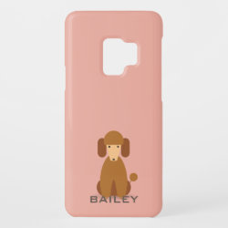 Case-Mate Barely There for Samsung Galaxy S9 Case with Poodle Phone Cases design
