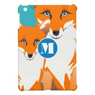 Monogram Cute Fox iPad Mini Case