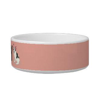 Monogram. Cute French Bulldog. Bowl