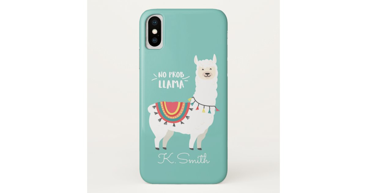 the latest 6e748 ee243 Monogram. Cute Funny Alpaca. No Prob Llama. Case-Mate iPhone Case |  Zazzle.com