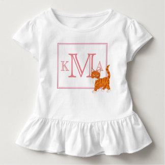 Monogram Cute Kitty Toddler T-shirt