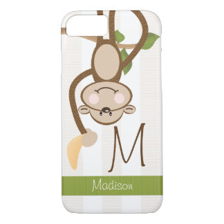 Monogram Cute Monkey iPhone 7 Case