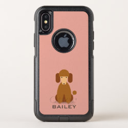 OtterBox Apple iPhone X Symmetry Case with Poodle Phone Cases design