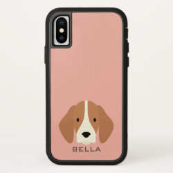 Case-Mate Barely There iPhone X Case with Beagle Phone Cases design
