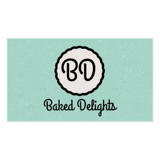 Monogram | Cutesy (mint) Business Card