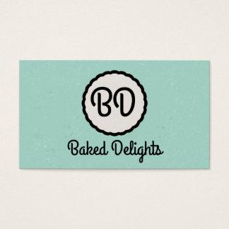 Monogram   Cutesy (mint) Business Card