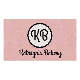 Monogram | Cutesy (pink) Business Card