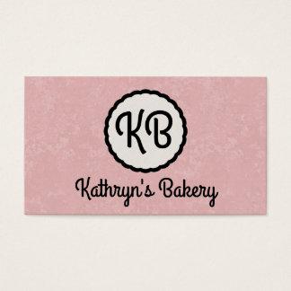 Monogram   Cutesy (pink) Business Card