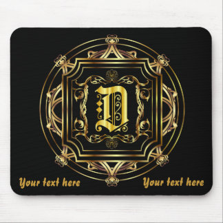 Monogram D Customize Edit Change Background Mouse Pad