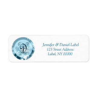 Monogram D Home Address Labels