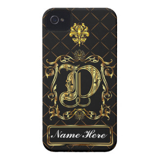 Monogram D iphone Case Mate Please View Notes iPhone 4 Case-Mate Cases