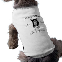 Monogram D Ring Bearer Wedding Dog Shirt Gift
