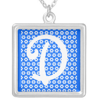 Monogram D Silver Plated Necklace