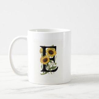 Monogram Daisy E Mug