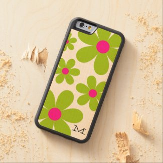 Monogram Daisy iPhone 6 Wood Case Carved® Maple iPhone 6 Bumper