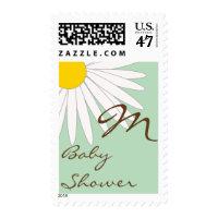 Monogram Daisy Postage Stamp
