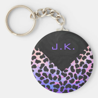 Monogram Dalmatian Black and Pink Keychain