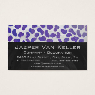 Monogram Dalmatian Purple and White Print Business Card