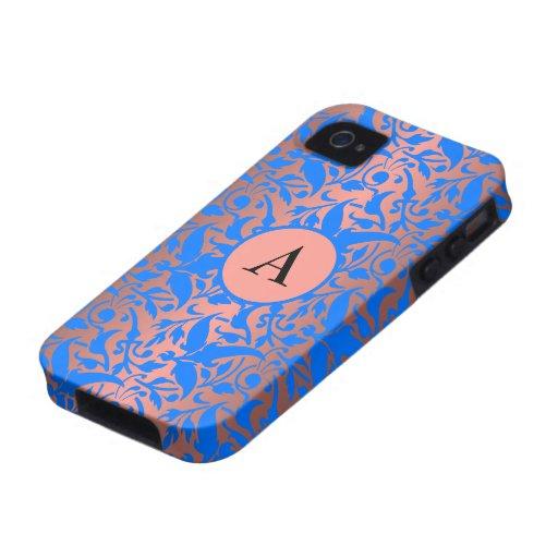 monogram damask iPhone 4 case