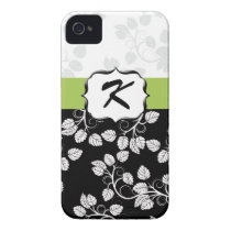 Monogram Damask green iPhone 4 Cover