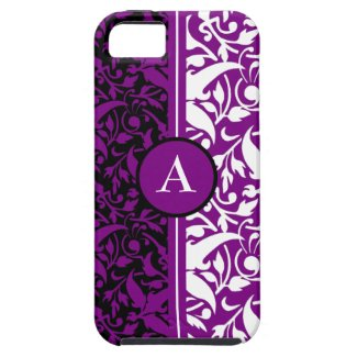 monogram damask iPhone 5 cover