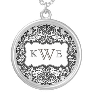Monogram Damask Necklace