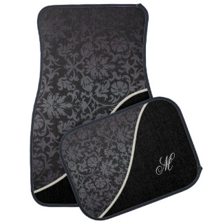Monogram Damask Pattern Car Floor Mat