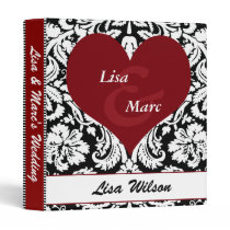 monogram damask wedding binder