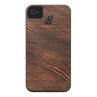 *Monogram* de madera del caso del iPhone 4 del Case-Mate iPhone 4 Coberturas
