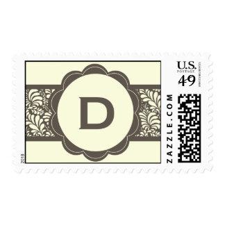 Monogram Deco Postage Stamps
