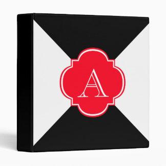 Monogram decoration vinyl binder
