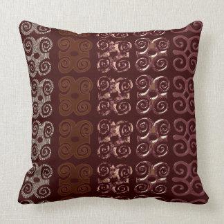 Monogram Decorative Throw Pillows-African Symbols Throw Pillow