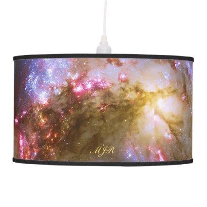 Monogram Deep space astronomy: Antennae Galaxies Ceiling Lamps