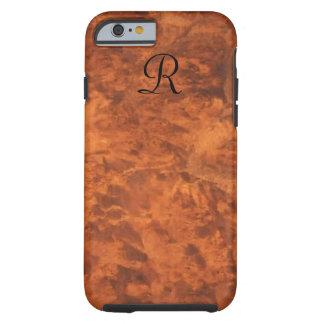 *monogram* del Cáucaso del Burl de la nuez Funda De iPhone 6 Tough