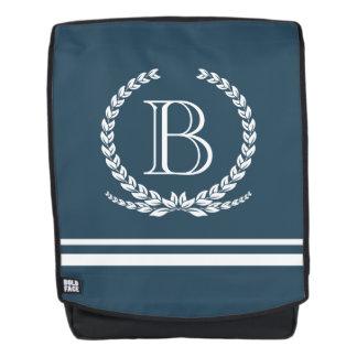 Monogram design backpack