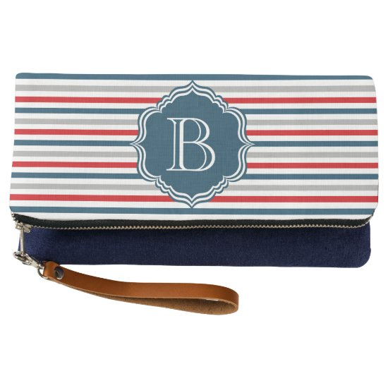 Monogram design clutch
