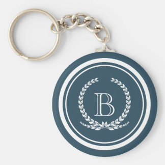 Monogram design keychain