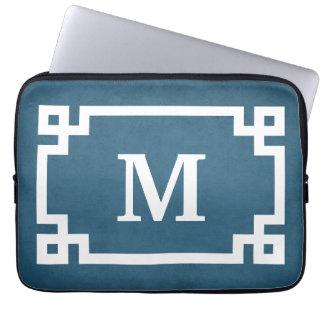 Monogram design laptop sleeve