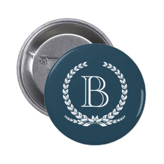 Monogram design pinback button