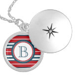 Monogram design silver plated necklace