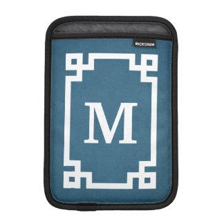 Monogram design sleeve for iPad mini