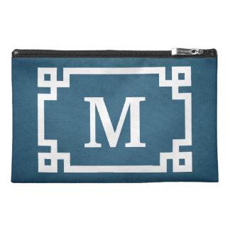 Monogram design travel accessory bag