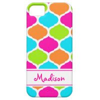 Monogram Designer Quatrefoil Lattice Pattern iPhone SE/5/5s Case