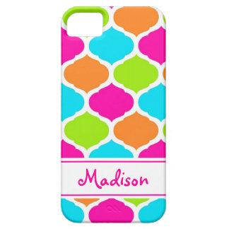 Monogram Designer Quatrefoil Lattice Pattern iPhone SE/5/5s Case
