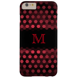 Monogram Desire Hexagons Pattern Barely There iPhone 6 Plus Case