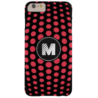 Monogram Desire Polka Dots Pattern Barely There iPhone 6 Plus Case