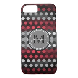 Monogram Desire & Silver Hexagons Pattern iPhone 7 Case
